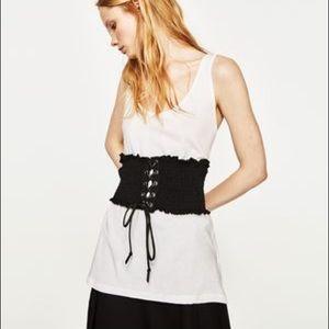 Zara sleeveless shirt with corset